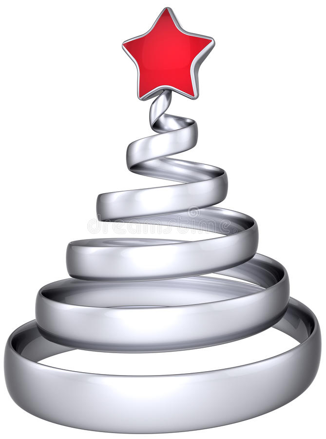 Silberner Weihnachtsbaumauszug vektor abbildung