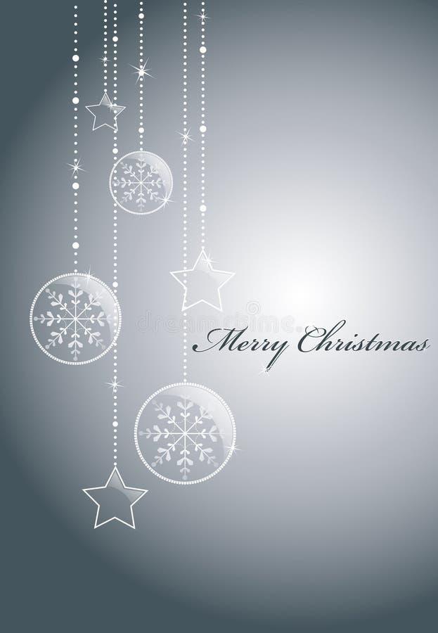 Silberner Weihnachtshintergrund lizenzfreie abbildung