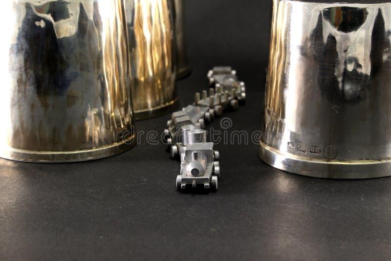 Silberner Zug lizenzfreies stockbild