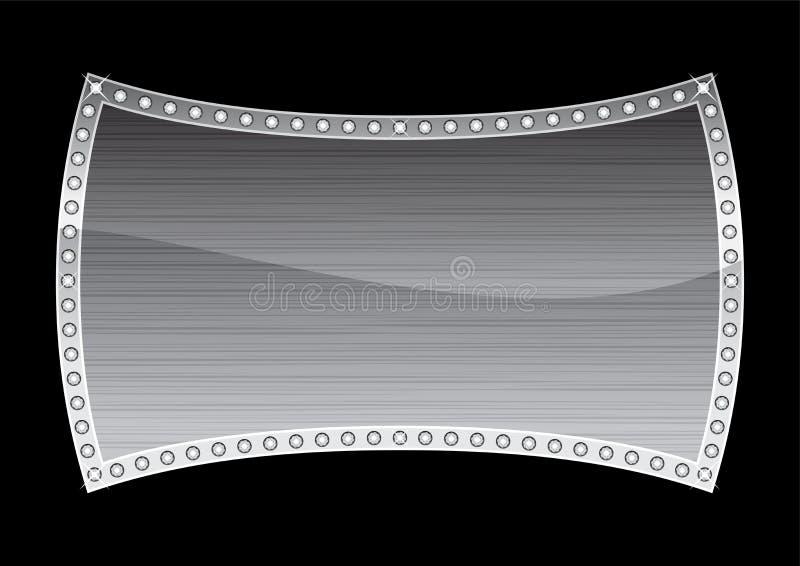 Silbernes Abzeichen lizenzfreie abbildung