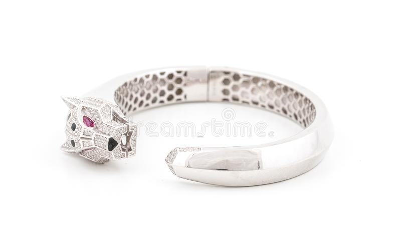 Silbernes Armband stockfotografie