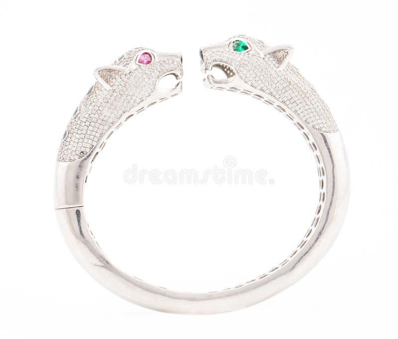 Silbernes Armband lizenzfreies stockbild