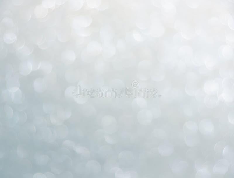 Silbernes bokeh lizenzfreie abbildung