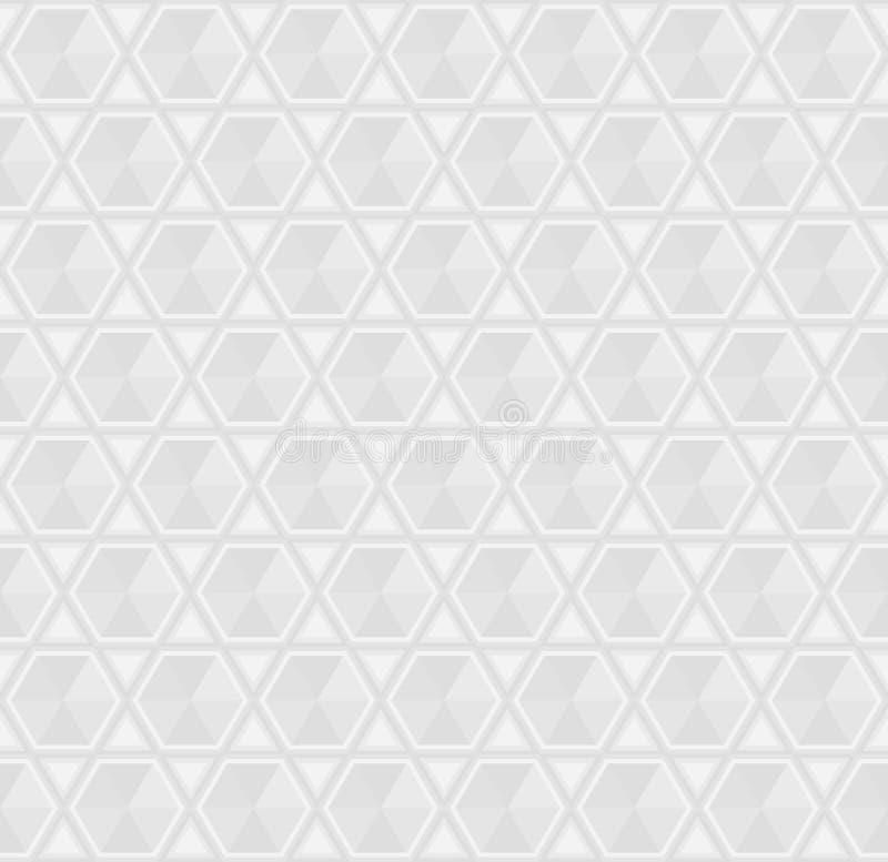Silbernes Grey Seamless Geometric Background Pattern vektor abbildung
