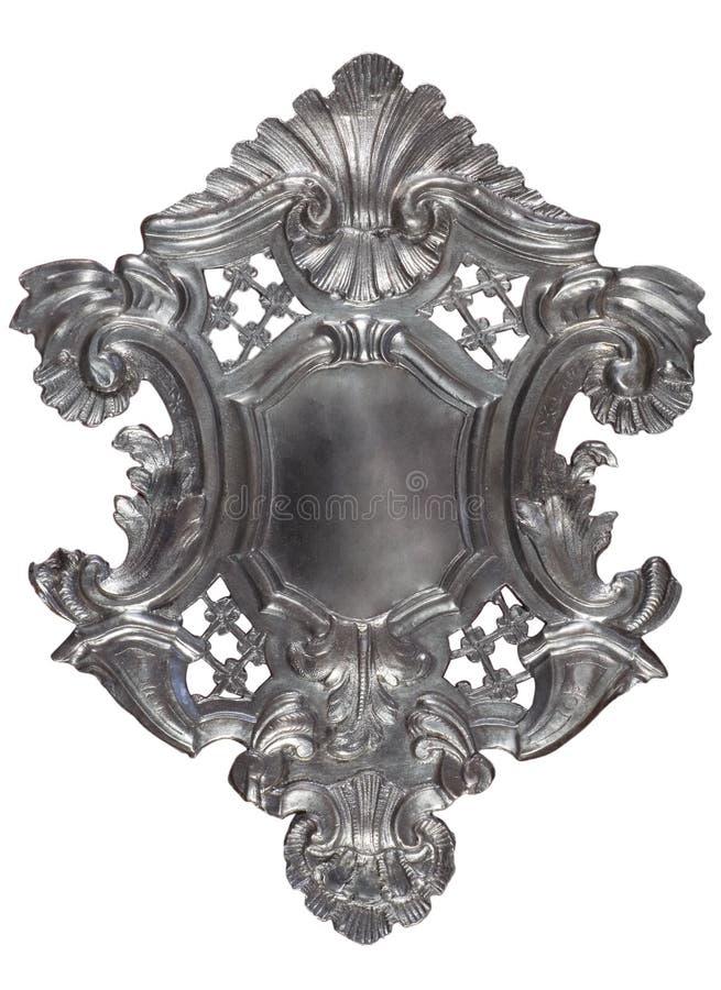 Silbernes heraldisches Schild lizenzfreies stockbild