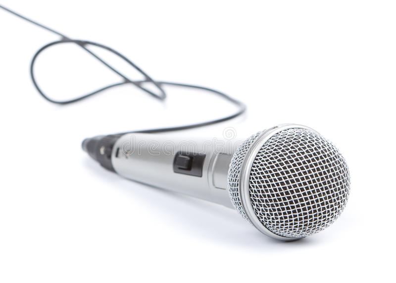 Silbernes Mikrofon lizenzfreie stockfotos