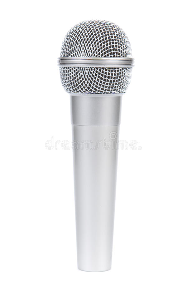 Silbernes Mikrofon lizenzfreies stockfoto