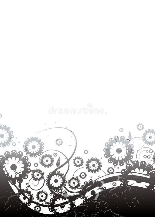 Silbernes mit Blumengotisches lizenzfreie abbildung