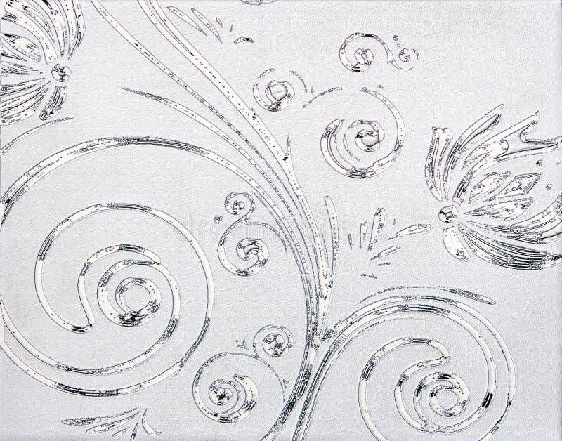 Silbernes Muster stockbild