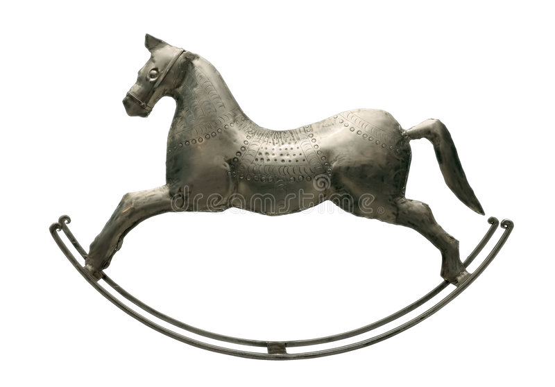Silbernes Pferd stockfoto