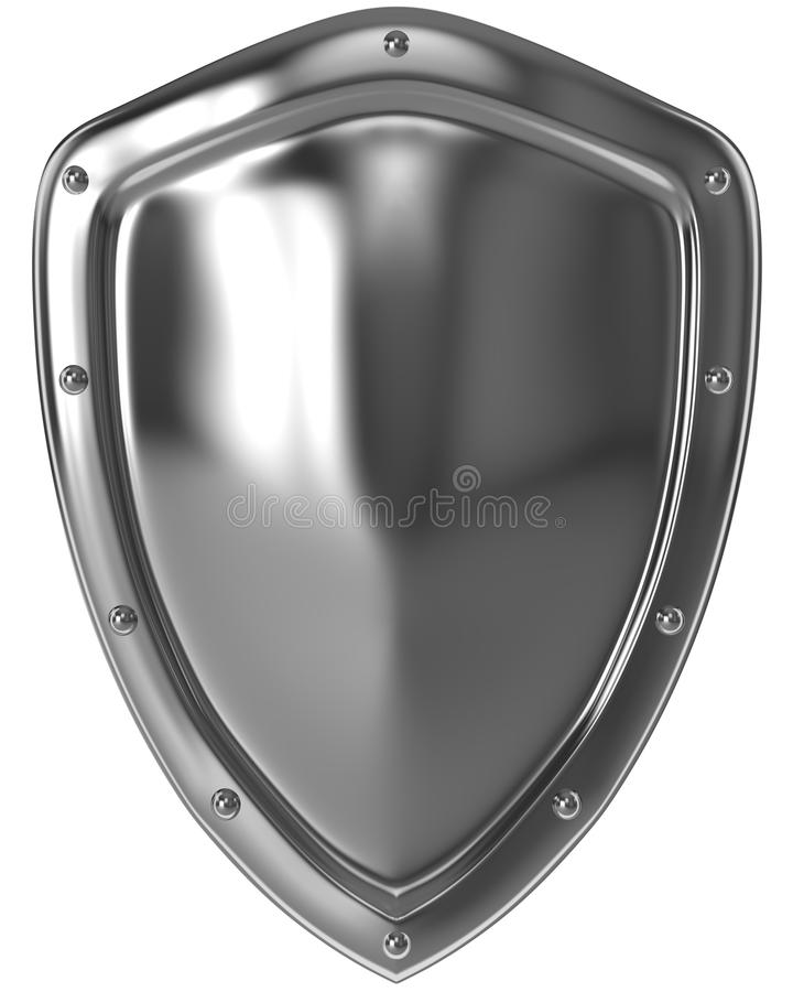 Silbernes Schild stock abbildung