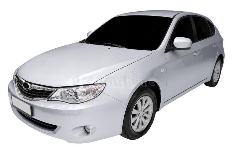 Silbernes schnelles Auto lizenzfreie stockfotos