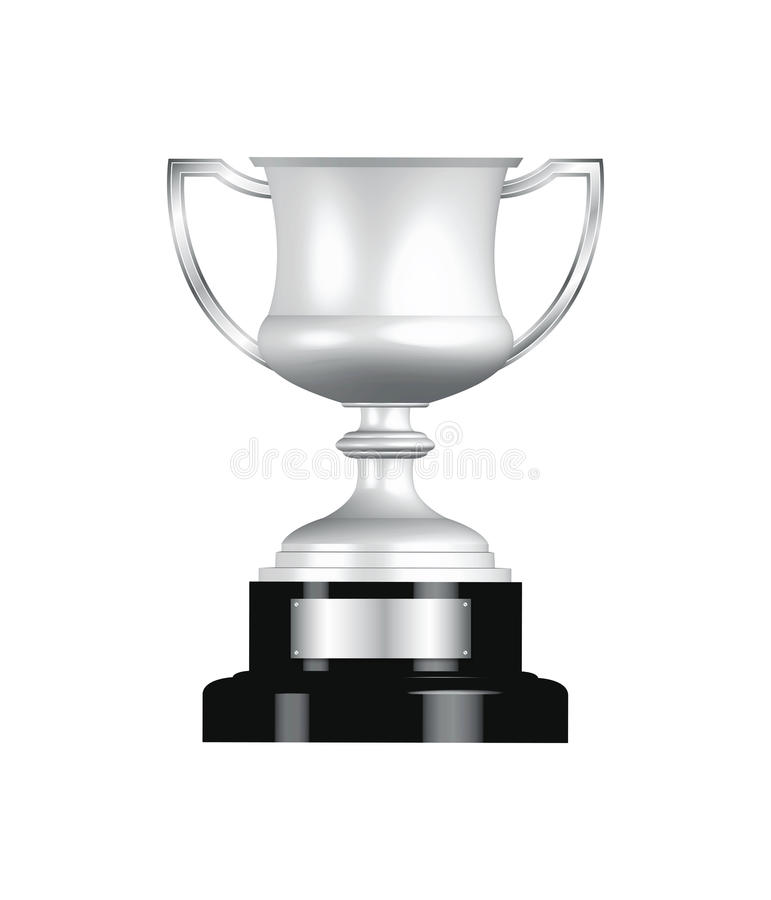 Silbernes Trophäe-Cup vektor abbildung