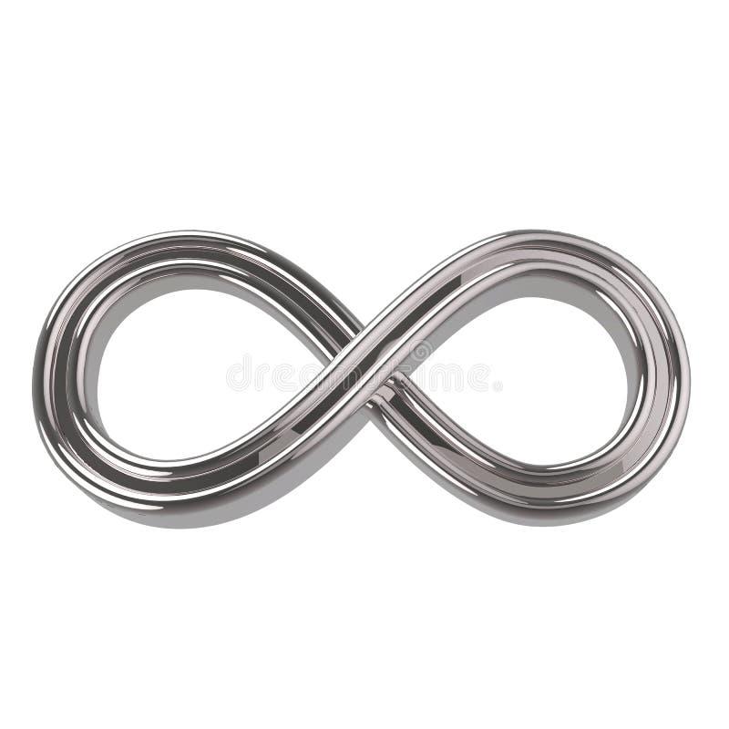 Silbernes Unendlichkeits-Symbol vektor abbildung