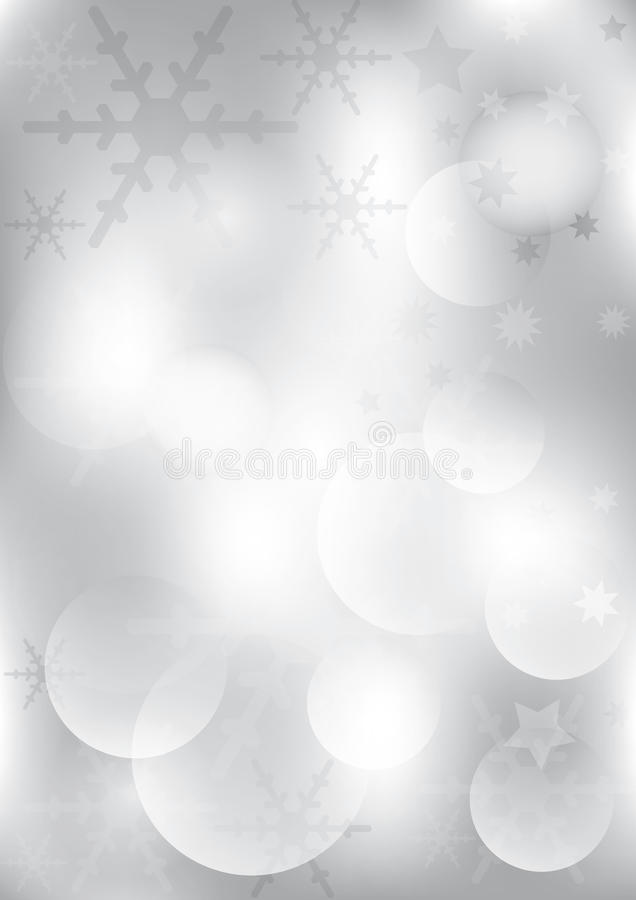 Silbernes Weihnachten Backround vektor abbildung