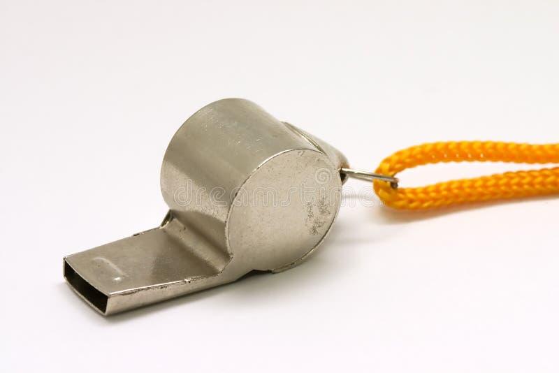 Silbido con la cadena amarilla foto de archivo libre de regalías