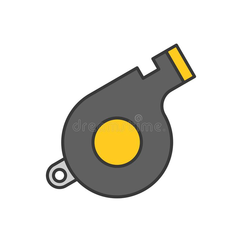 Silbido, icono relacionado de la policía, movimiento editable del esquema ilustración del vector