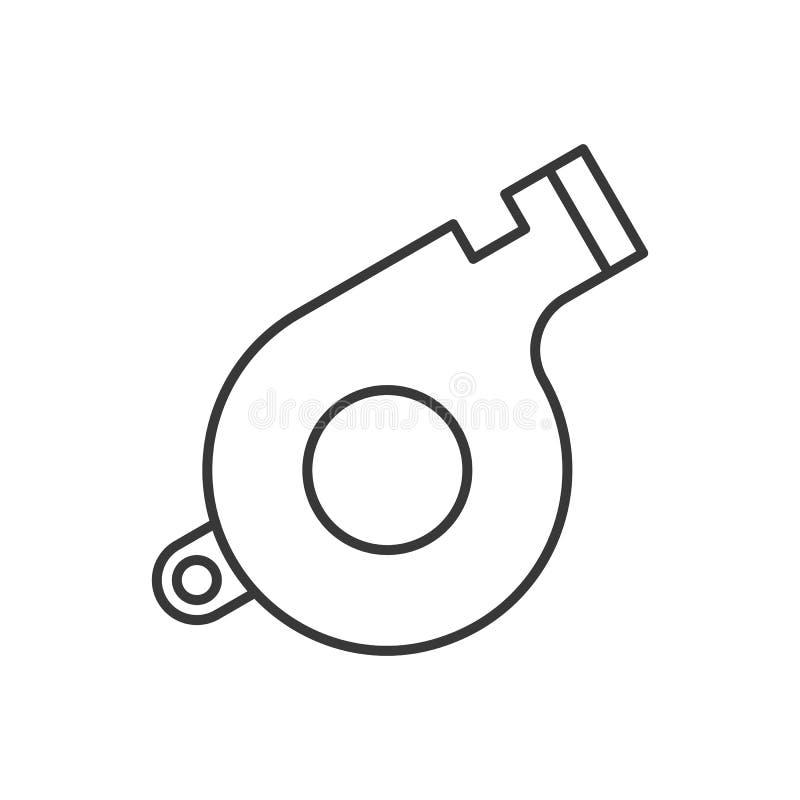 Silbido, icono relacionado de la policía, movimiento editable del esquema libre illustration