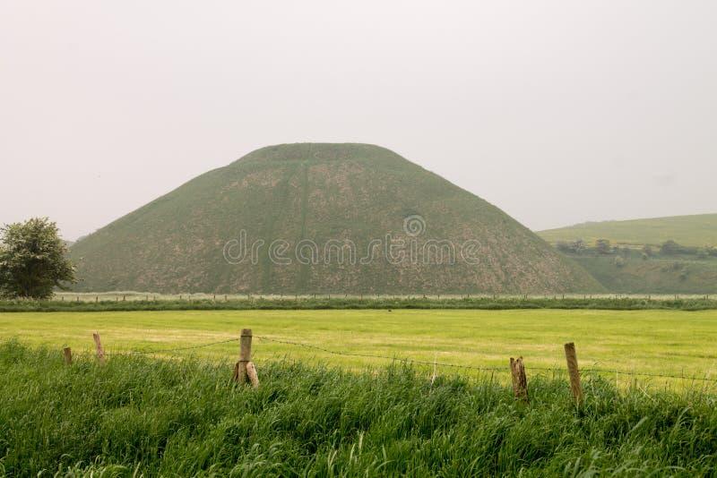 Silbury wzgórze Avebury Wiltshire Zlany Kindom obrazy royalty free