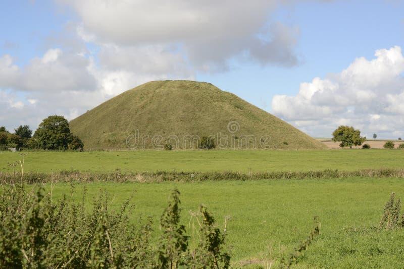 Silbury wzgórze w Wiltshire, Anglia zdjęcia royalty free