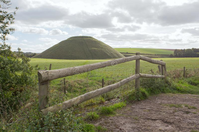 Silbury wzgórze Wiltshire fotografia royalty free