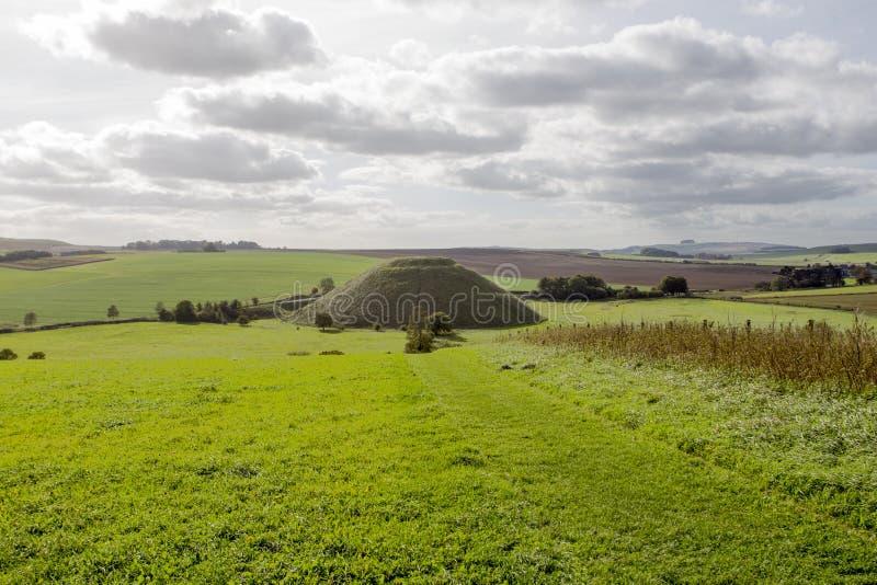 Silbury wzgórze Wiltshire obrazy royalty free