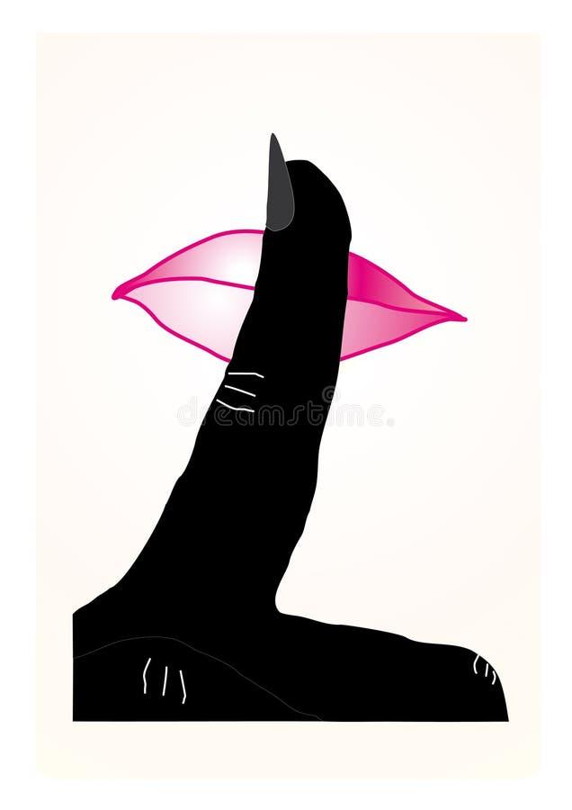 Download Silence stock illustration. Illustration of emotion, black - 12760228