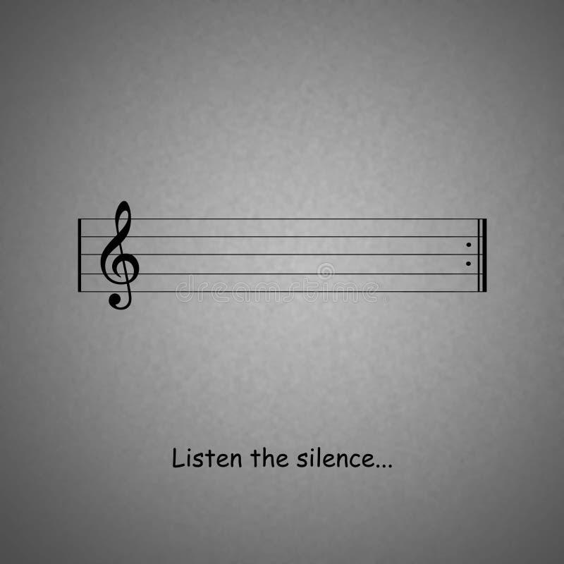 Silence illustration libre de droits