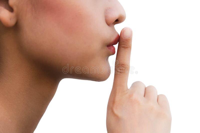 Silence image libre de droits