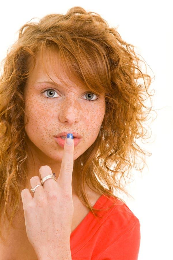 Silence please royalty free stock photo