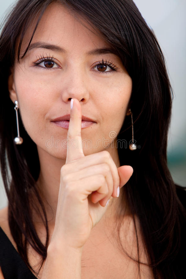 Download Silence please stock image. Image of business, businesspeople - 14686367