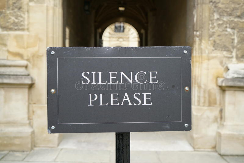 Silence Please-Library Notice stock images