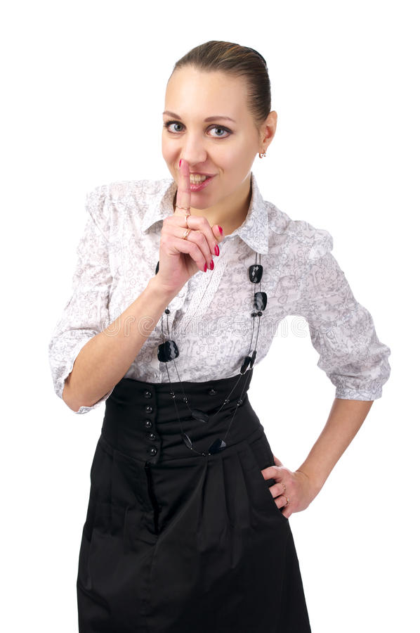 Download Silence sign stock photo. Image of gesturing, brunette - 13263236