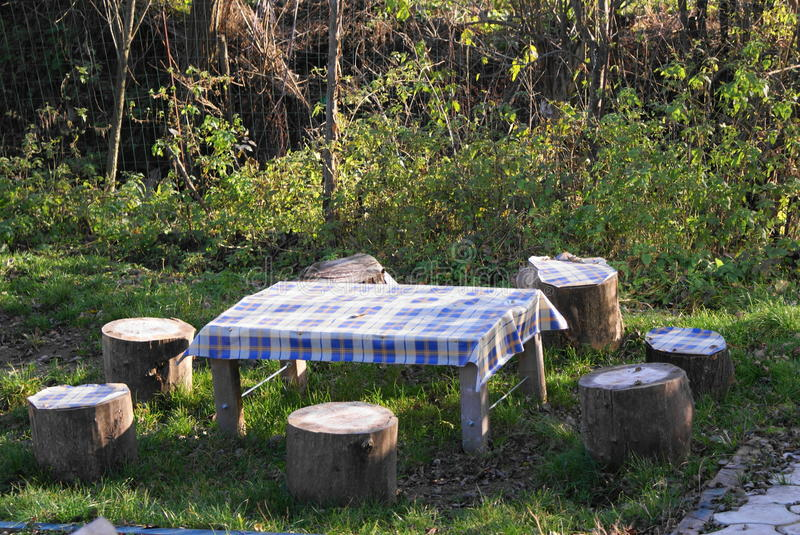 Silence table for picnic royalty free stock image