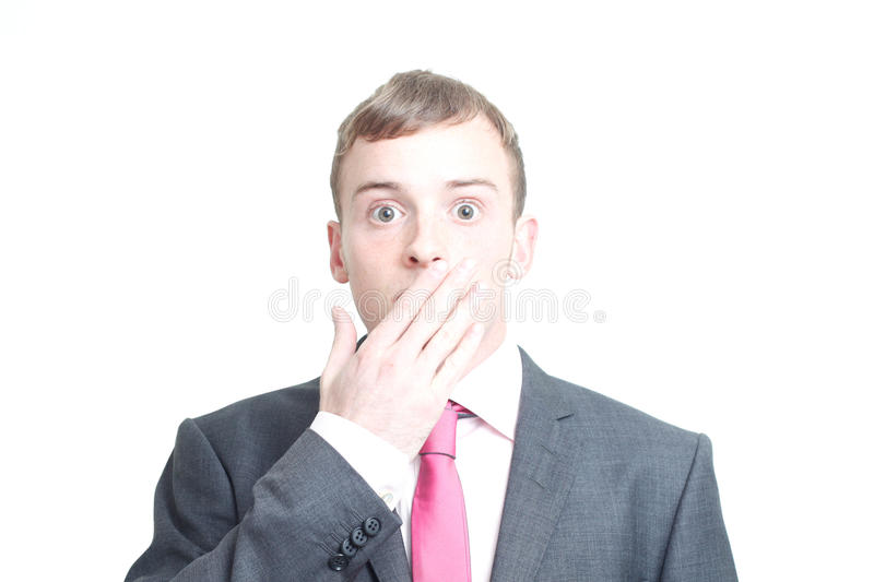 Silenced business man royalty free stock photography