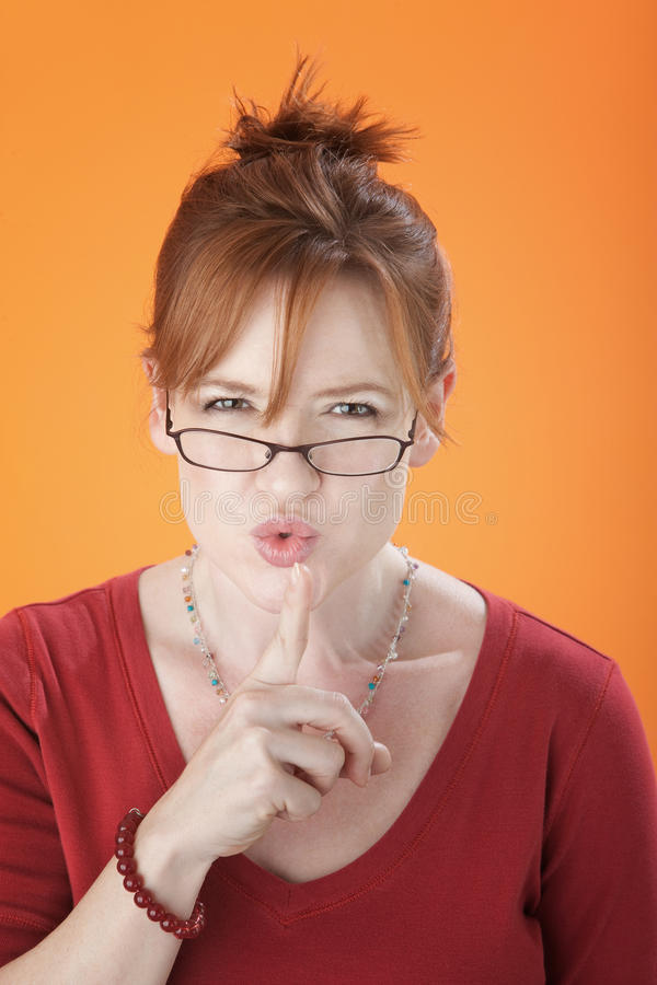 Silencing Woman stock image