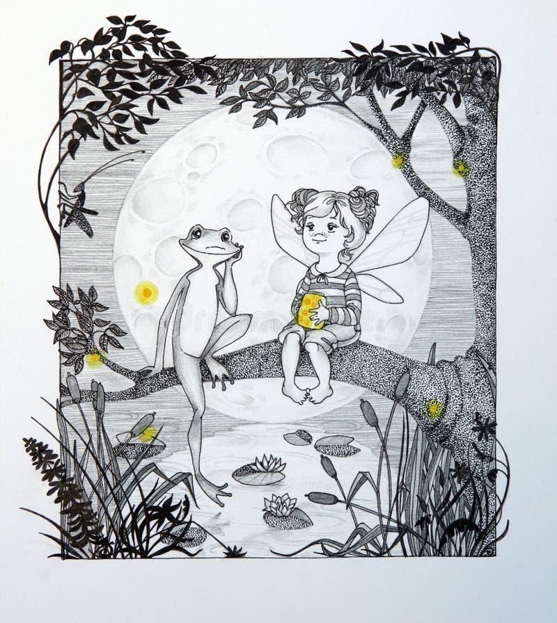Download Silencio stock de ilustración. Ilustración de muchacha - 7283378