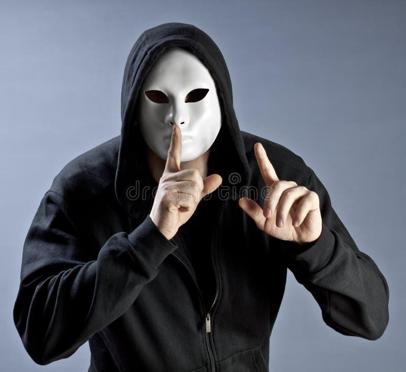 Silencio de una máscara foto de archivo