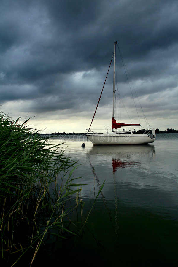 Silencioso antes de tormenta foto de archivo