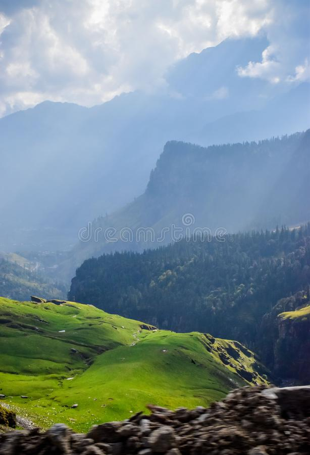 Hills. Beauty of the silent hills at himachal to leh highway royalty free stock photography