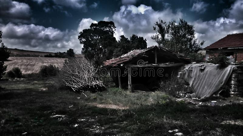 Silent building stock image