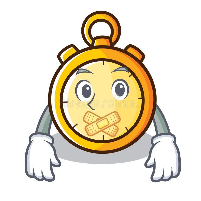 Silent chronometer character cartoon style. Vector illustration royalty free illustration