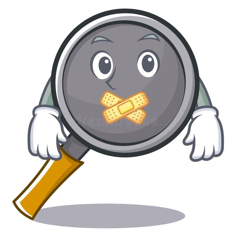 Silent frying pan cartoon character. Vector illustration stock illustration