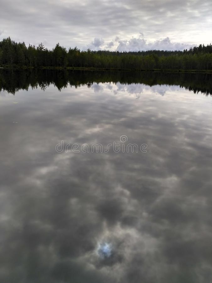 Silent Lake. royalty free stock photography