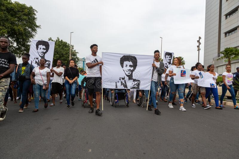 Silent March in Honor of Luis Giovani Rodrigues royalty free stock photos