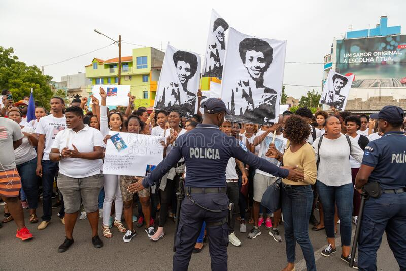 Silent March in Honor of Luis Giovani Rodrigues stock photography