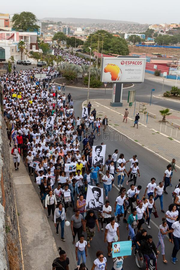 Silent March in Honor of Luis Giovani Rodrigues stock image