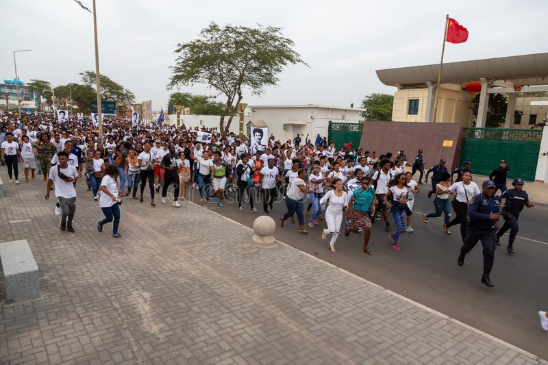 Silent March in Honor of Luis Giovani Rodrigues royalty free stock image
