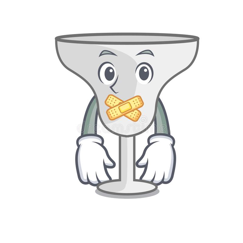 Silent margarita glass mascot cartoon. Vector illustration vector illustration