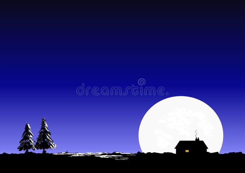 Silent night vector illustration